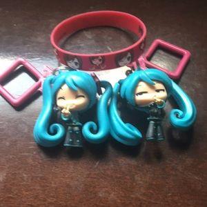 Vocaloid Bundle! Bracelet + 2 Keychains!